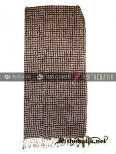 Selendang Batik Dobi Motif Kawung Kecil