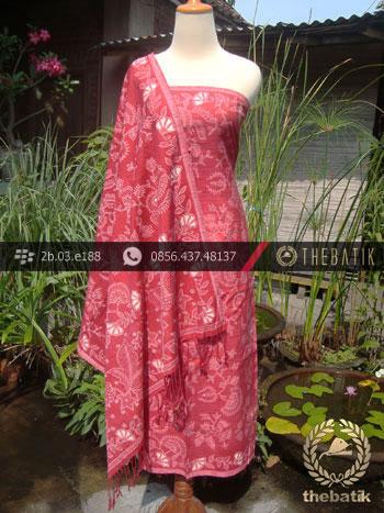 Sarung Selendang Batik Sutera Tulis Jambon