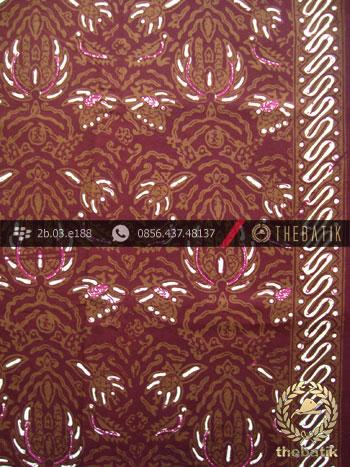Batik Cap Tulis Jogja Motif Semen Latar Marun