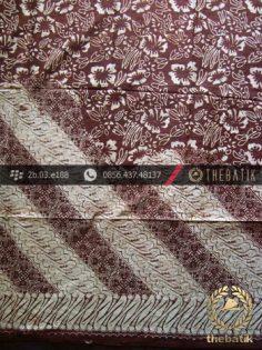 Batik Sutera Jogja Motif Parang Kembang Kontemporer
