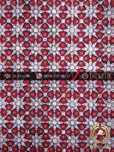 Kain Batik Cap Jogja Motif Kembang Tanjung Merah