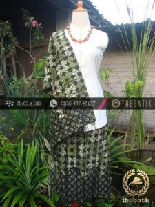 Sarung Selendang Batik Motif Kawung Prabu Truntum Hijau