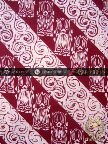 Kain Batik Cap Jogja Motif Lereng Merah