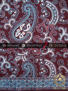 Batik Cap Tulis Motif Keong Kontemporer Ungu Biru