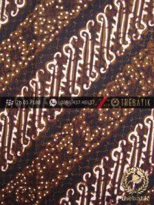 Batik Cap Tulis Jogja Motif Parang Hijau Lumut