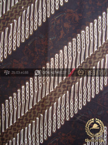 Kain Batik Cap Tulis Jogja Motif Parang Srimpi Hijau