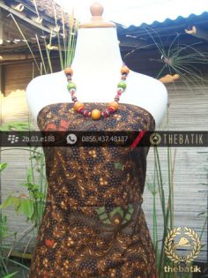 Kain Batik Cap Solo Motif Pisan Bali Coletan