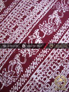 Kain Batik Cap Jogja Motif Udan Liris Kelengan Marun