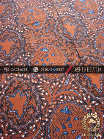 Kain Batik Cap Tulis Jogja Motif Kembang Kubis Jingga