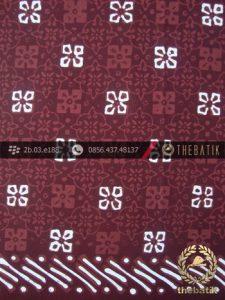 Kain Batik Cap Tulis Jogja Motif Nitik Marun