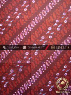 Kain Batik Cap Tulis Jogja Motif Parang Seling Kembang Marun