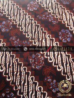 Kain Batik Cap Jogja Motif Parang Curigo Seling Kembang