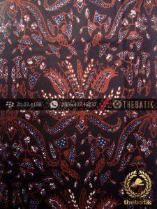 Kain Batik Tulis Jogja Motif Pisang Bali Latar Hitam