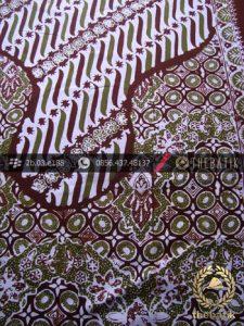 Kain Batik Cap Tulis Jogja Motif Pulau Kombinasi Latar Putih