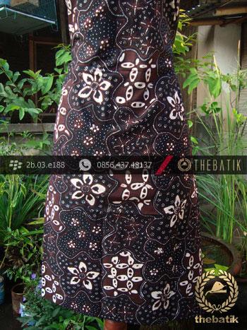 Kain Batik Tulis Jogja Motif Sekar Jagat Kontemporer Hitam