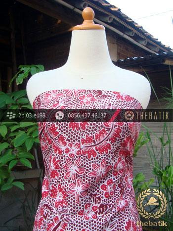 Kain Batik Tulis Jogja Motif Bantulan Gringsing Merah Jambon