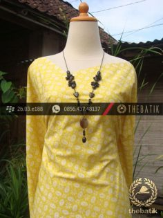 Kain Batik Cap Jogja Motif Kawung Kuning