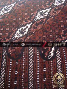 Kain Batik Cap Tulis Jogja Motif Lereng Kombinasi Sogan