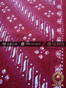 Kain Batik Cap Tulis Jogja Motif Parang Seling Merah Jambon