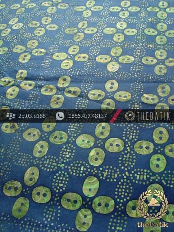 Kain Batik Cap Tulis Solo Motif Kawung Kontemporer Biru Hijau