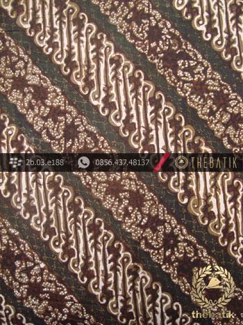 Kain Batik Cap Tulis Yogya Motif Parang Ukel Hijau Lumut