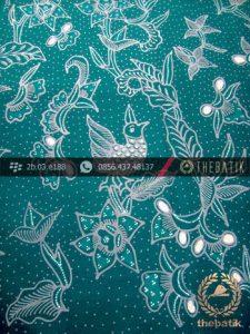 Kain Batik Tulis Yogyakarta Motif Ayam Mutiara Hijau