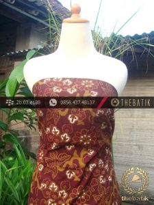 Kain Batik Cap Tulis Jogja Motif Ceplok Ukel Marun