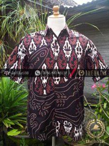 Hem Batik Cap Tulis Yogya Motif Pulau Lukis Sogan