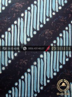 Kain Batik Cap Tulis Yogya Motif Parang Srimpi Biru Muda