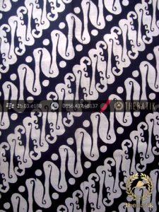 Kain Batik Cap Jogja Motif Parang Rusak Seling Ukel Kelengan