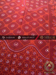 Kain Batik Tulis Yogyakarta Motif Pulau Kombinasi Merah