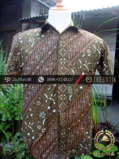 Kemeja Batik Seragam Motif Parang Kontemporer Hijau-5