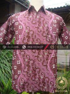 Kemeja Batik Seragam Motif Parang Kontemporer Jambon