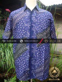 Kemeja Batik Seragam Motif Parang Kontemporer Ungu