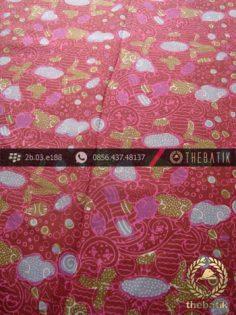 Bahan Batik Paris Motif Coletan Kontemporer Pink