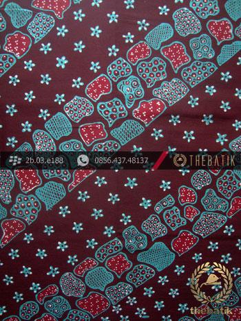 Kain Batik Tulis Yogyakarta Motif Lereng Biru Tosca