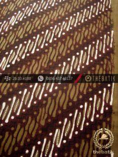 Kain Batik Cap Tulis Jogja Motif Parang Klithik Hijau Lumut
