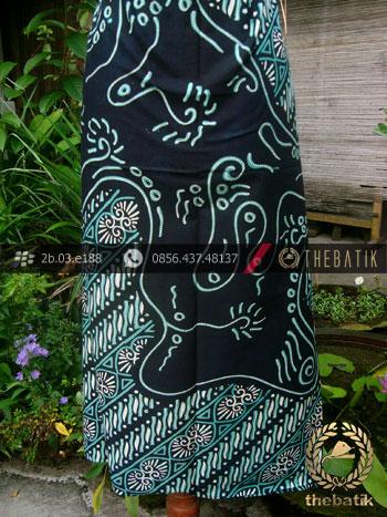 Kain Batik Cap Tulis Jogja Motif Pulau Parang Lukis Hijau