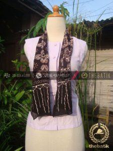 Syal Batik Paris Motif Ganggong Paningran Sogan
