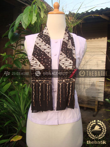 Syal Batik Paris Motif Parang Klithik Grompol