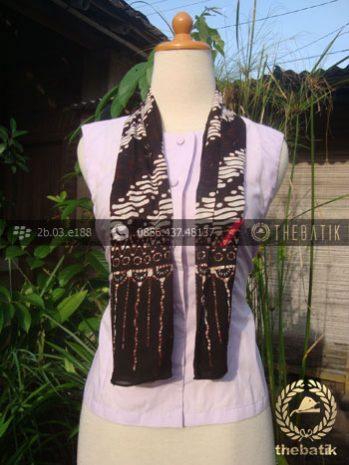 Syal Batik Paris Motif Parang Klithik Seling