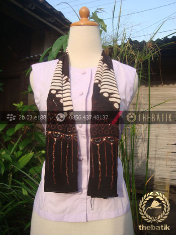 Syal Batik Paris Motif Parang Srimpi
