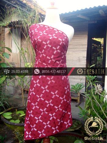 Kain Batik Cap Tulis Jogja Motif Kotak Merah