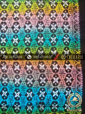 Bahan Batik Paris Motif Ceplok Gradasi