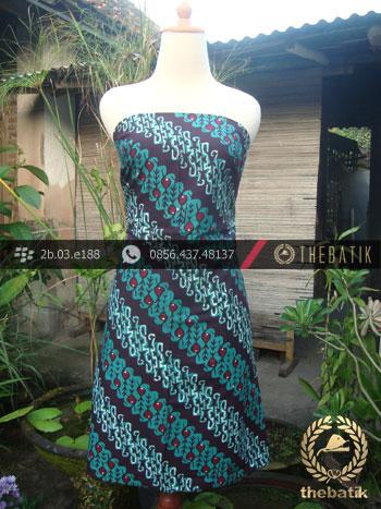 Kain Batik Cap Tulis Jogja Motif Parang Seling Tosca