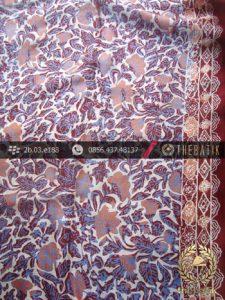 Kain Batik Sutera Motif Buketan Kontemporer