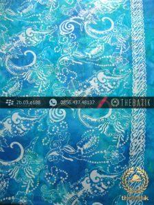 Kain Batik Cap Jogja Biru Warna Kontemporer
