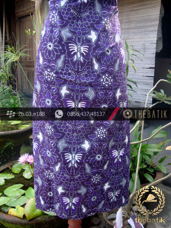 Kain Batik Cap Tulis Jogja Motif Kupu Anggur Ungu