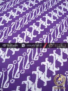 Kain Batik Cap Kelengan Motif Parang Ungu