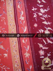 Sarung Batik Cirebon Motif Buketan Peach